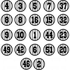 Yankees Retired Numbers Set