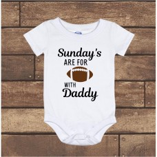 Sunday's are for Football with Daddy